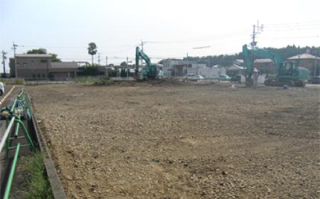 解体後の整地と清掃